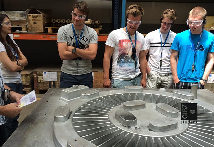 Exkursion der Konstrukteure zu einem Walz- und Schmiedewerk