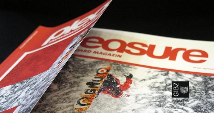 """Ab auf die Piste! – mit dem """"Pleasure Snowboard Magazin"""" im Zeitschriftenraum der Mediathek"""