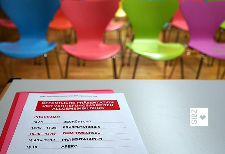"""""""Gesellenstücke"""" – öffentliche VA-Präsentation im Fach Allgemeinbildung der 4-jährigen Lehren"""