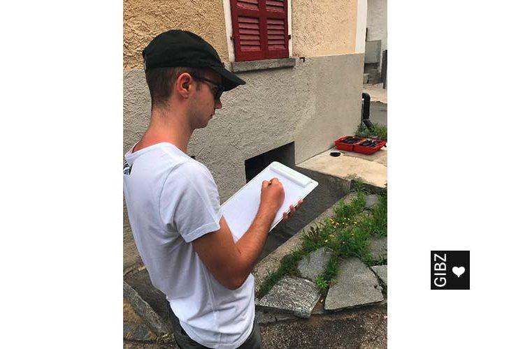 Out of GIBZ – Vermessungskurs 2018 der Zeichner Fachrichtung Ingenieurbau im Misox