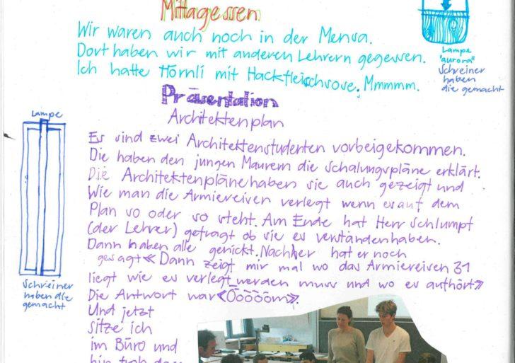 Zukunftstage am GIBZ: Zu Besuch bei der Bauabteilung