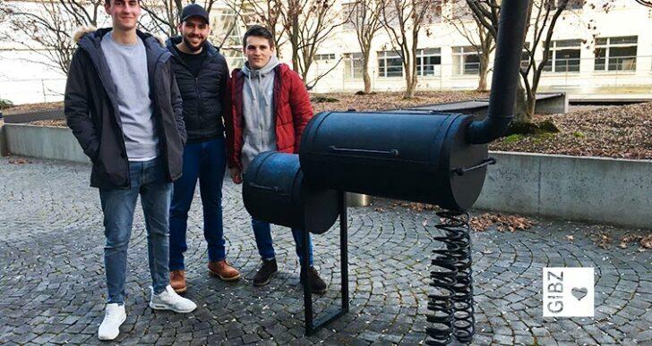 """Fire and Ice – """"smokern"""" auf der winterlichen GIBZ-Terrasse"""