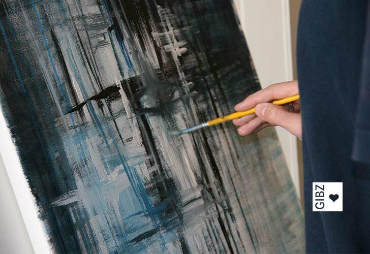 Selbstporträts der Klasse ZFA2 – in Acryl gemalt