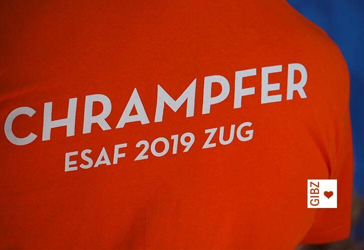 Chrampfen einmal anders : Team GIBZ zeigte am ESAF vollen Einsatz