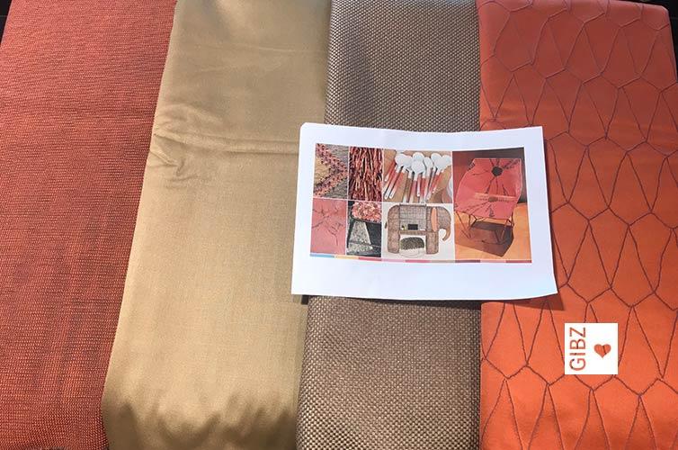 Raumgestaltung mit Farben und Textilien – Workshop der HFTG bei Création Baumann