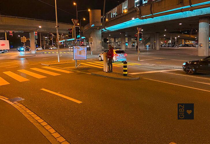 Strassenkunst: Projekt Contour der HFTG