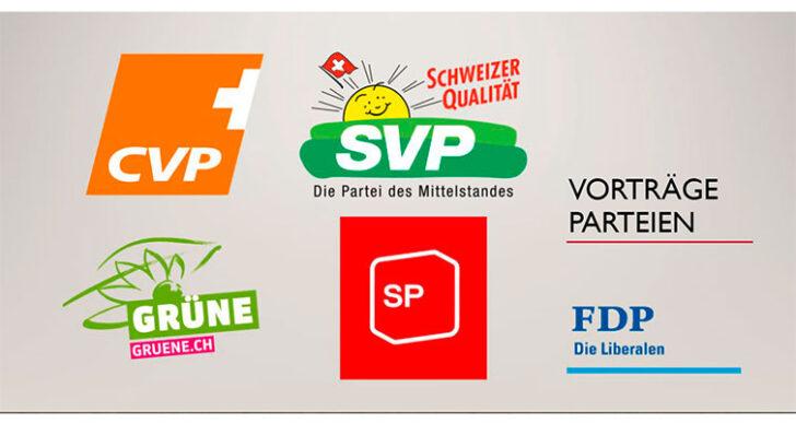 Schweizer Parteien-Landschaft – vorgestellt von verschiedenen ABU-Klassen